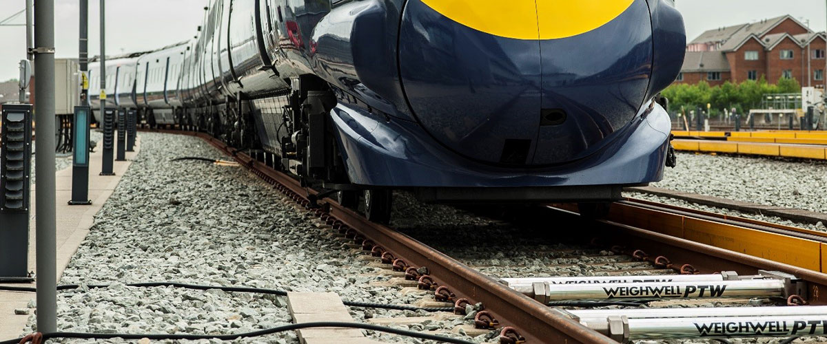 Train weighing at Hitachi depot