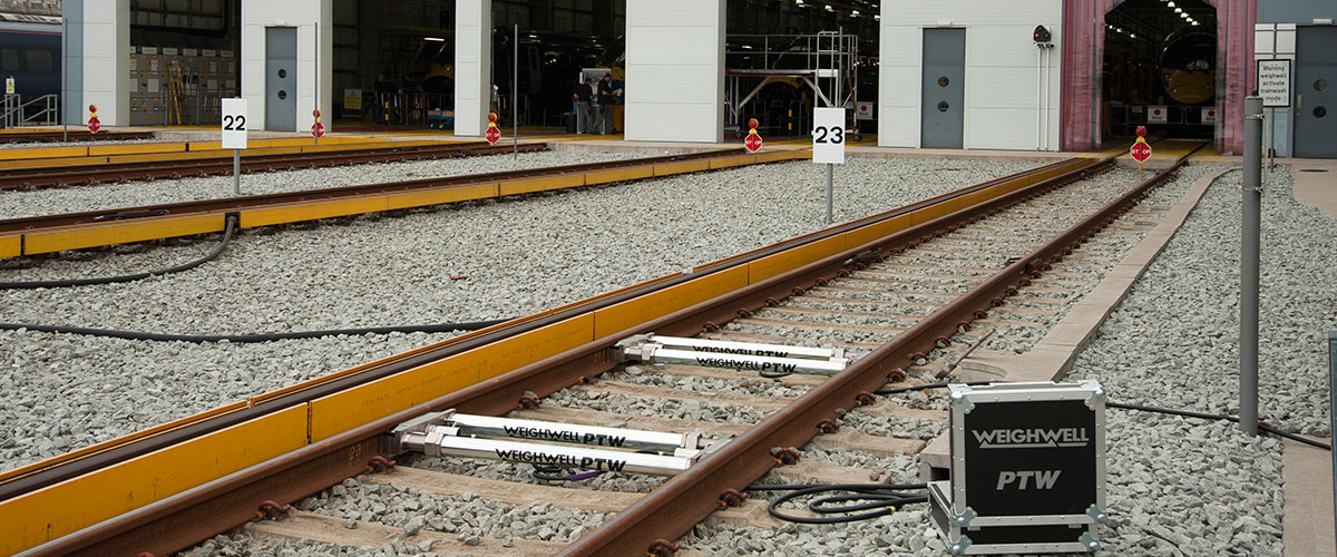 Static train weighing system
