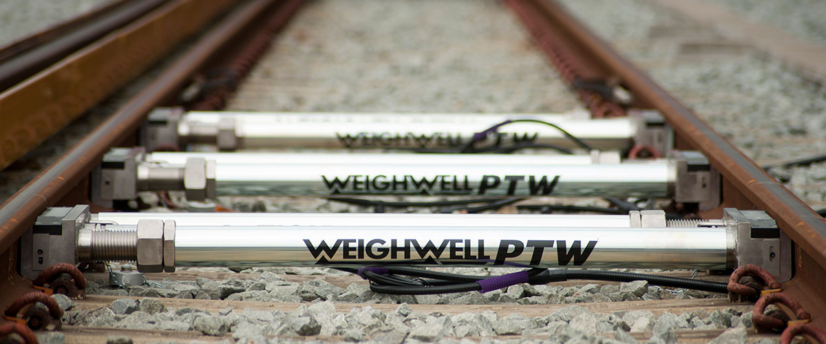 Train weighing system for bogies