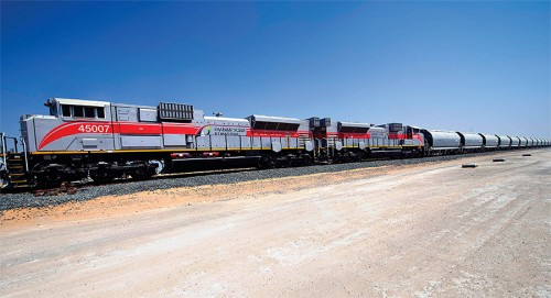 Weighing Etihad Rail trains