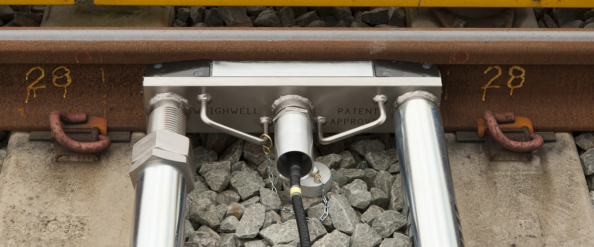 500mm space between rail fastenings
