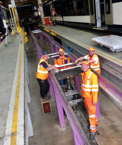 Static Train Weighing system in Switzerland