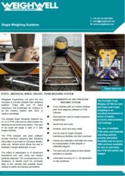 Bogie Weighing System brochure