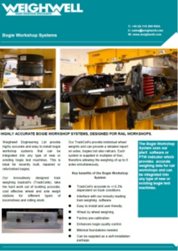 Bogie Workshop Systems brochure