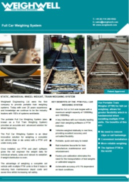 Full Car Weighing System brochure