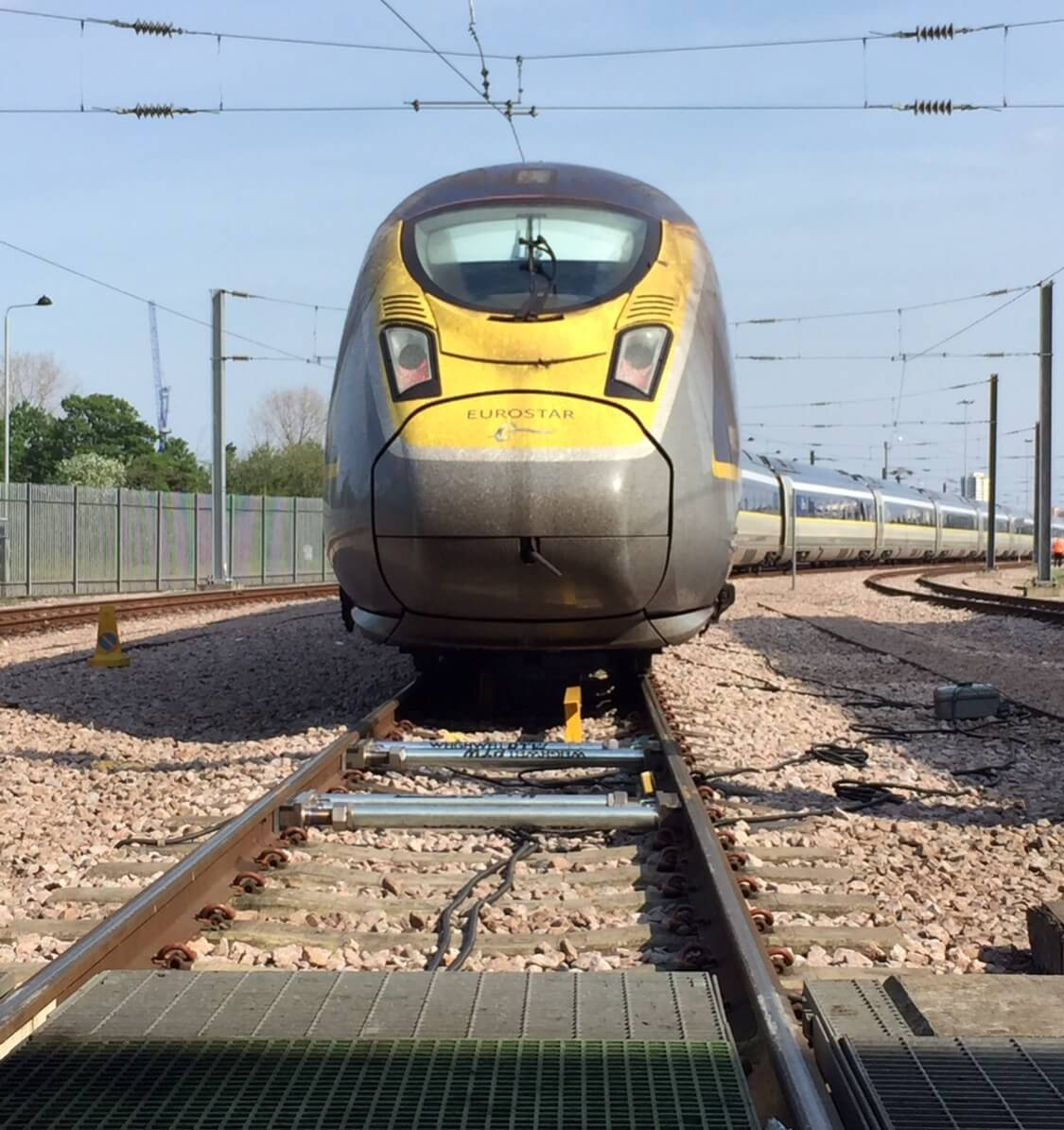 High speed train weighing