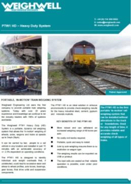 PTW1 HD brochure
