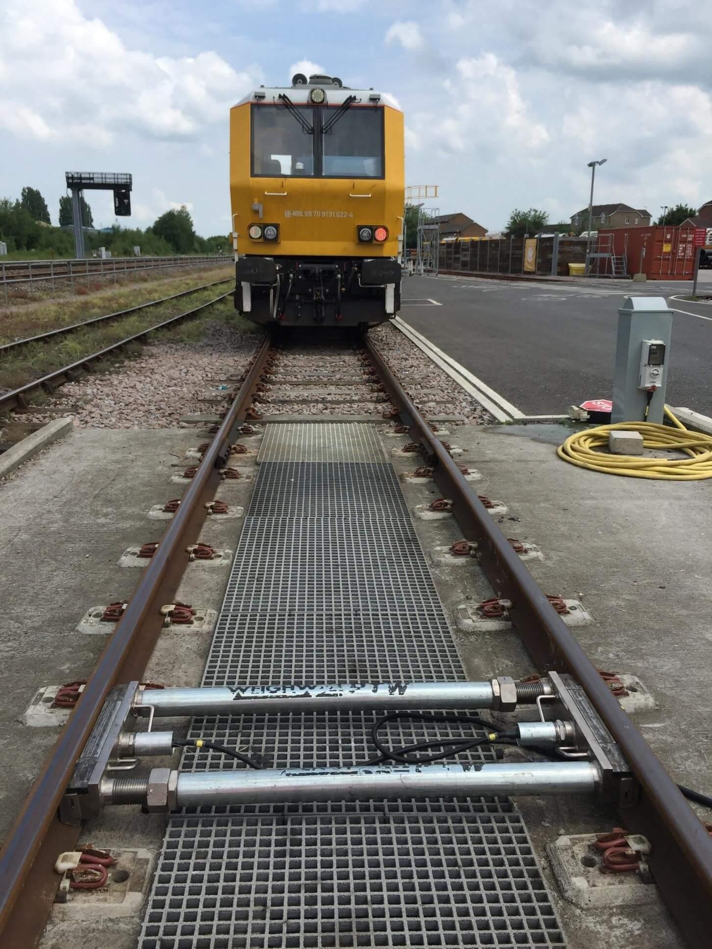 Train weighing at Swindon