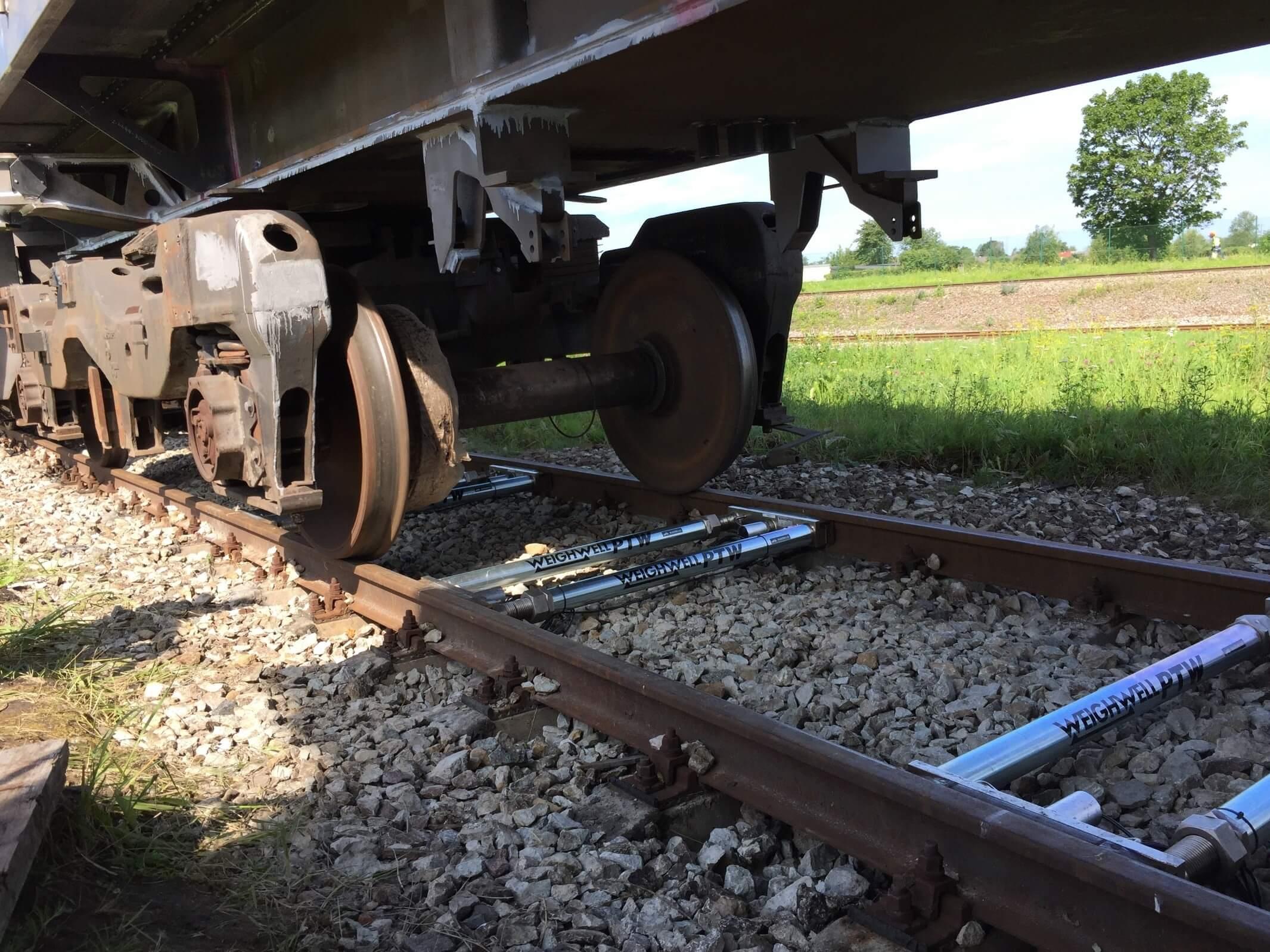 Train weighing in Estonia