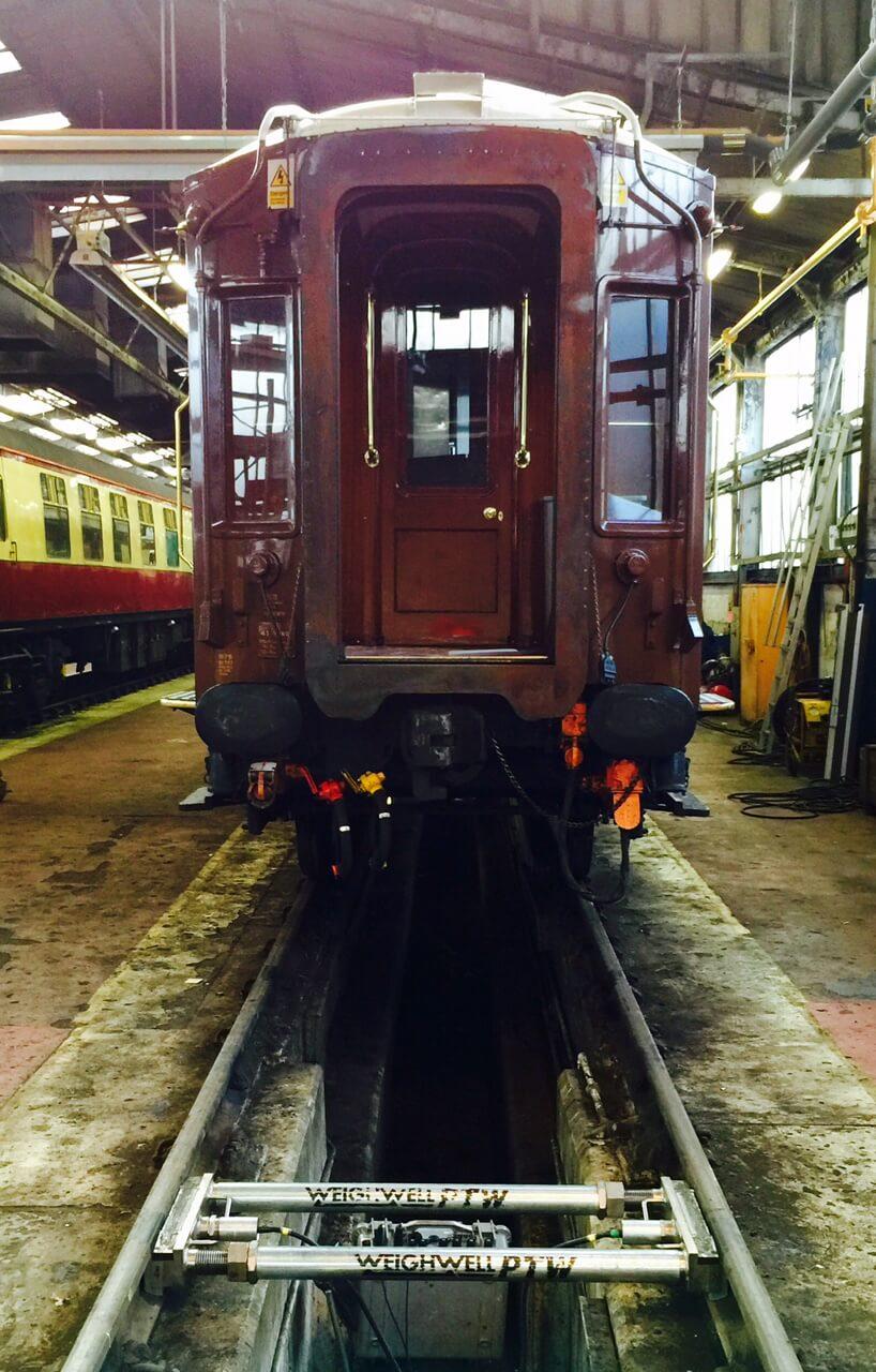Weighing at Battersea depot