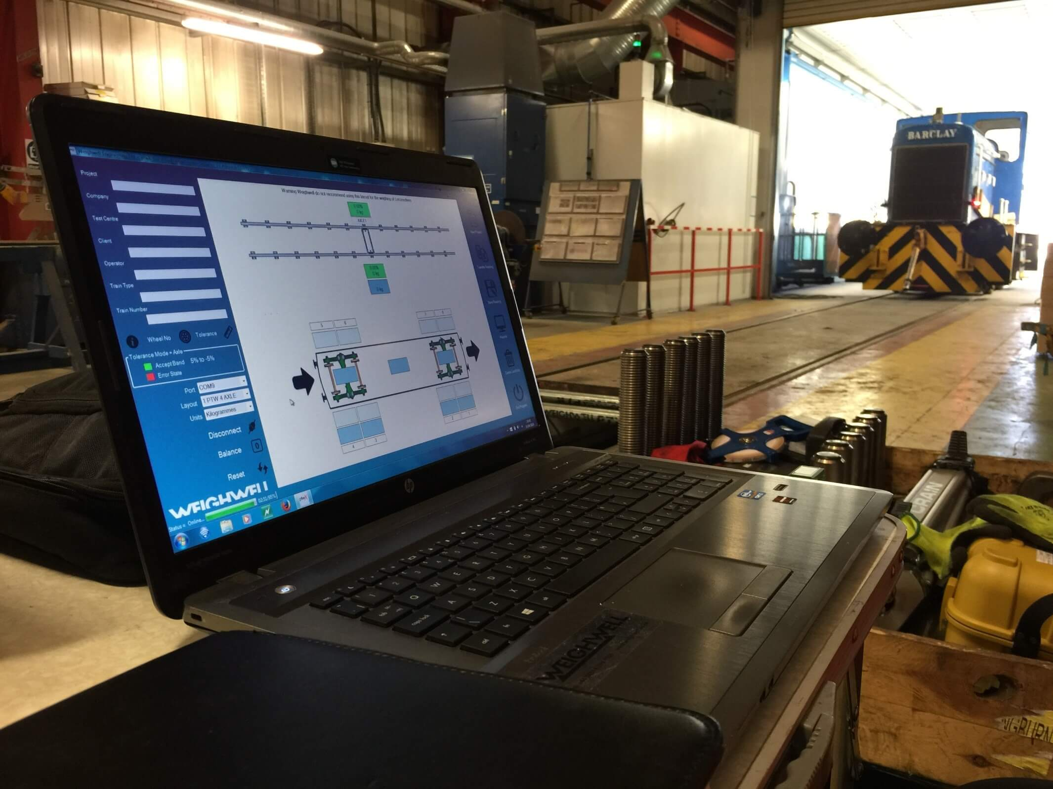 ptwX train weighing software at depot